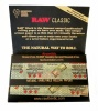 RAW BLACK Classic Single Wide Double Window Rolling Papers - 25's