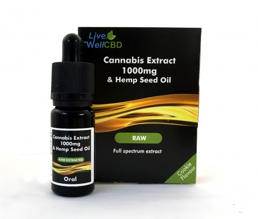 LV Well CBD RAW Cannabis Extract Oil Drops/Spray - 10ml