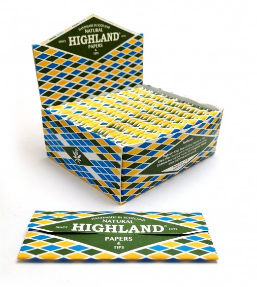 Highland Natural Thin King Size Rolling Papers & Tips