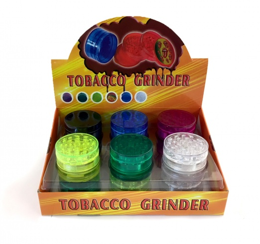 3 Part Acrylic Grinder Various Colours