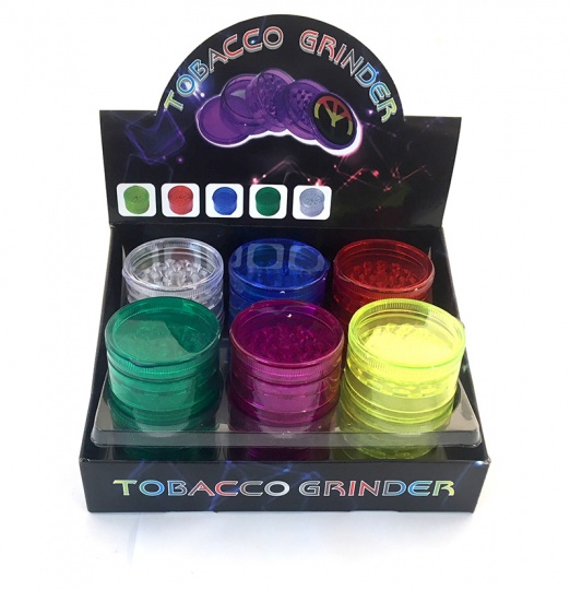 Acrylic 5-Pt Grinder Various Colours Box Of 12