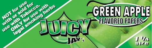 Juicy Jays Green Apple 1 1/4 Size Flavoured Rolling Papers