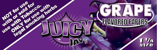 Juicy Jays Grape 1 1/4 Size Flavoured Rolling Papers