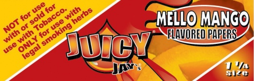 Juicy Jays Mello Mango 1 1/4 Size Flavoured Rolling Papers