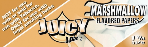 Juicy Jays Marshmallow 1 1/4 Size Flavoured Rolling Papers