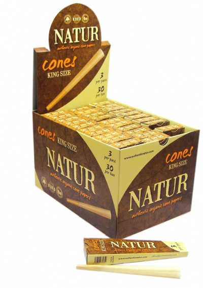 Natur Organic King Size 3 Pack Cones