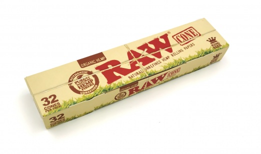 RAW ORGANIC Pre Rolled Cones Basic Kingsize