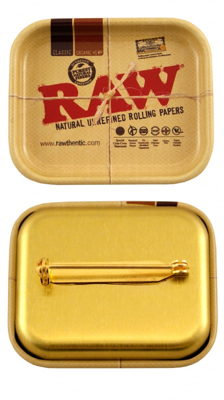 RAW Miniature Tray Pin Badge