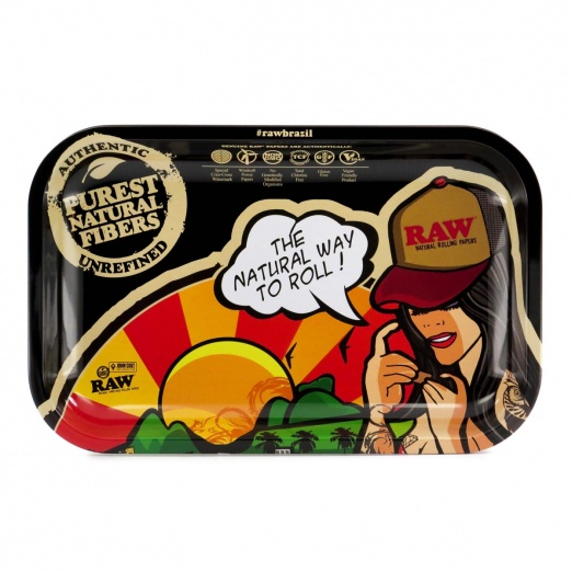 RAW Brazil Small Metal Rolling Tray