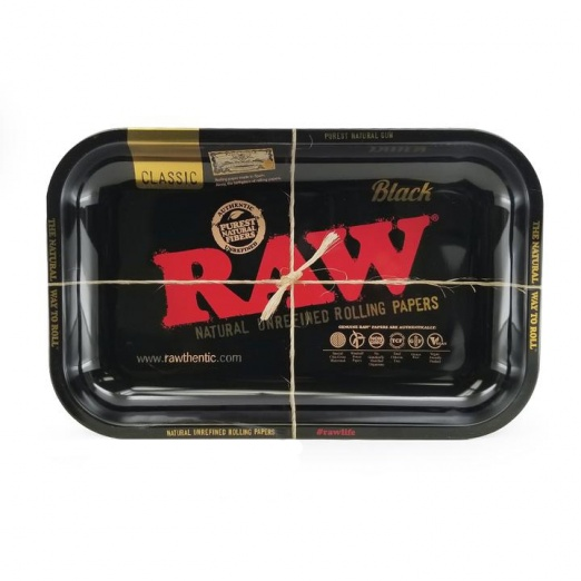 RAW BLACK Small Metal Rolling Tray