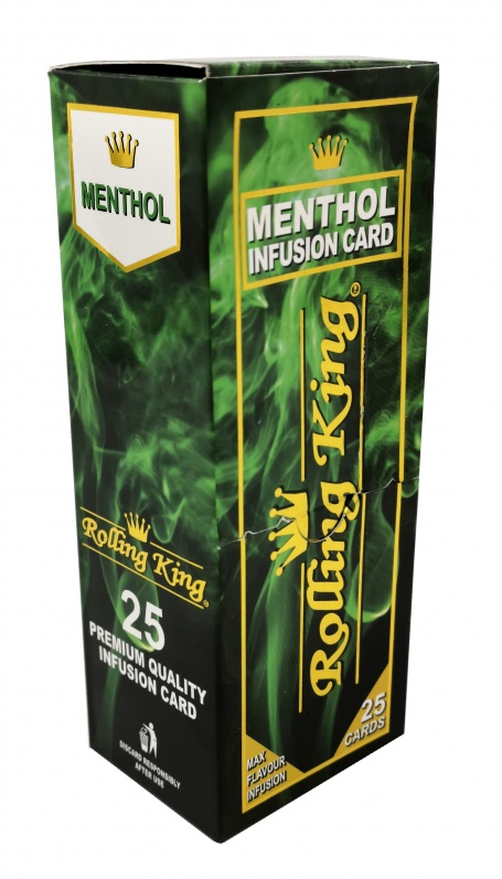 Rolling King - Menthol Infusion Cards - 25 Cards per Box