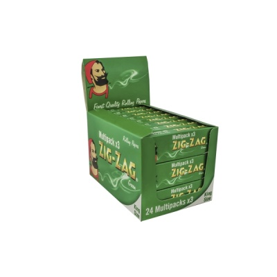 Zig Zag Kingsize Green 3 x 24 Packs