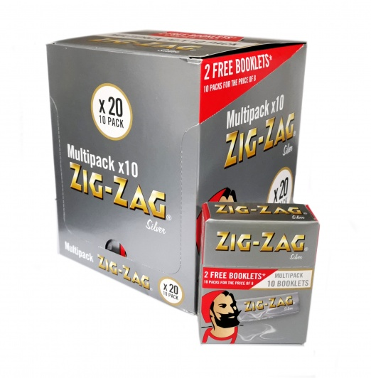 Zig-Zag Silver Regular Multipack Rolling Papers - 20 x 10 pack