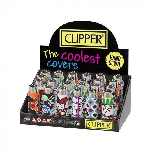 Clipper Covers Poker Design Lighters - 24's