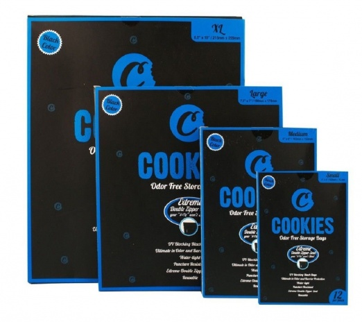 Cookies Black Odor Free Storage Bags - Small, Medium, Large, XL