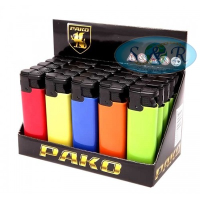 Pako Windproof Jet Flame Solid Colours Electronic Lighters