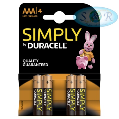 Simply Duracell Batteries Size AAA