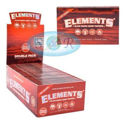 Elements Hemp Single Wide Doubles Rolling Papers