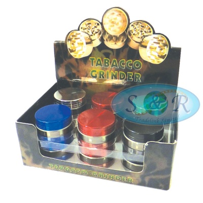 3 Part 30mm Chrome Metal Grinder Various Colours
