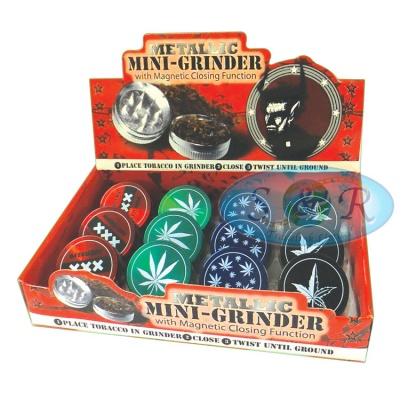 2 Part Mini 40mm Metal Grinder Various Designs