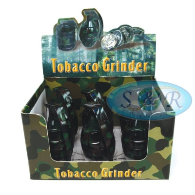 3 Part Hand Grenade Metal Grinder Various Colours