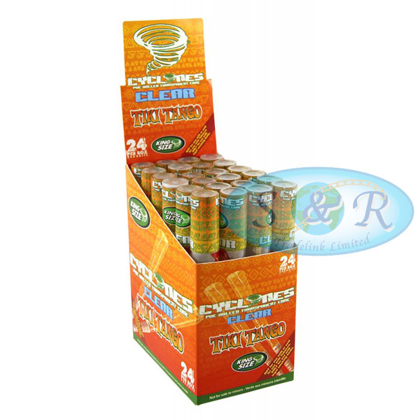 Cyclone Blunt Wraps Clear Cherry Full Box of 24