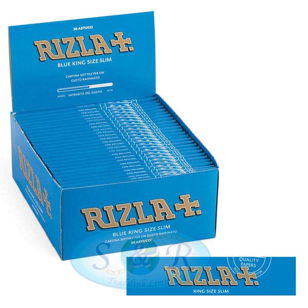 Rizla Blue King Size Slim Rolling Papers S Amp R Tradelink Ltd