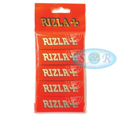 Rizla Red Regular Rolling Papers Hanger x 5 Pack