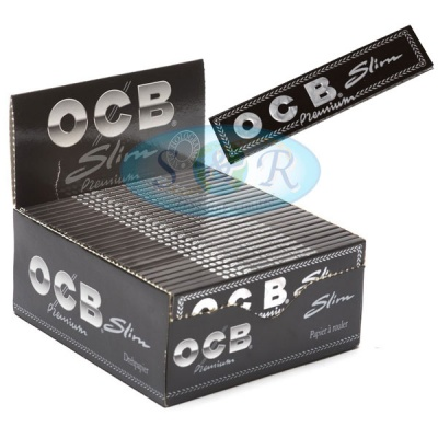 OCB Black Premium King Size Slim Rolling Papers