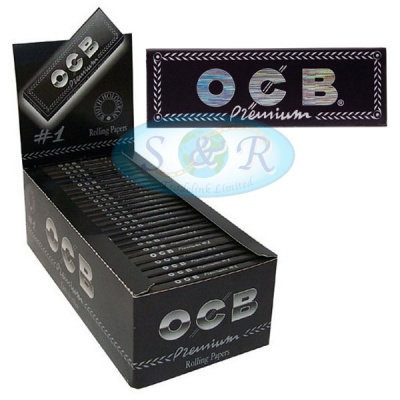 OCB Black Premium Regular Rolling Papers