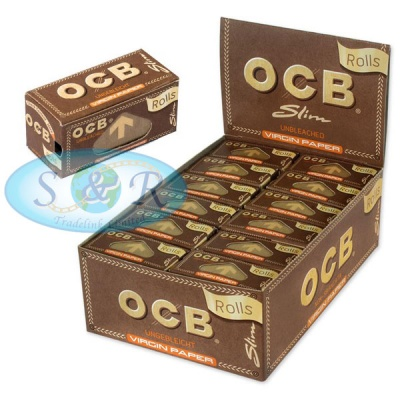 OCB Virgin Unbleached Slim Rolls Rolling Papers