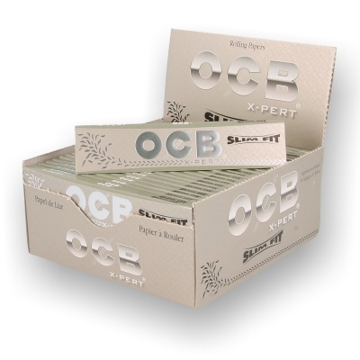 OCB X-PERT King Size Slim Rolling Papers Box of 50