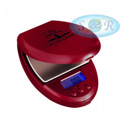 On Balance DJ-100 Red Digital Scales