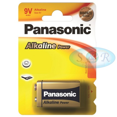 Panasonic Alkaline Power Batteries Size PP3 9v