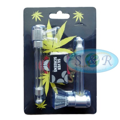 2 Pack Glass Pipes with Screens Included