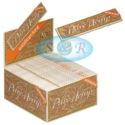 Pure Hemp Unbleached King Size Slim Rolling Papers