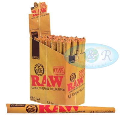 RAW Classic Emperador 7¼ Inch 1 Pack Pre-Rolled Cones