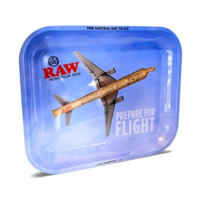 RAW Prepare For Flight Medium Metal Rolling Tray
