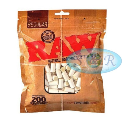 RAW Regular 8mm Cotton Filter Tips