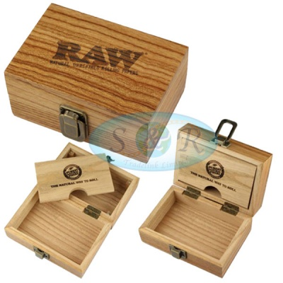 RAW Small Wooden Rolling Storage Box