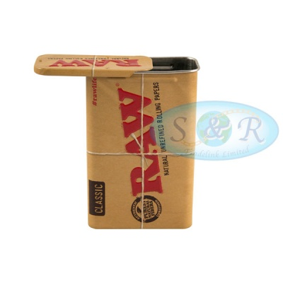 RAW Sliding Top Cigarette Case Tin