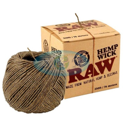 RAW Hemp Wick 76m