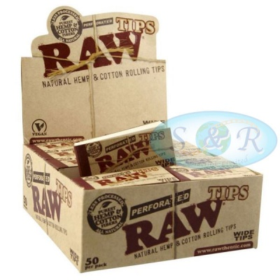 RAW Wide Perforated Hemp & Cotton Tips