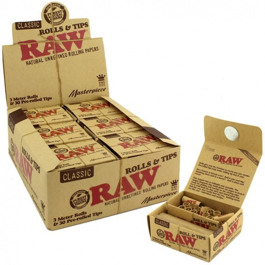 RAW Masterpiece Rolls + 30 Pre rolled tips