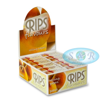 Rips Peach Flavoured 4m Slim Rolls