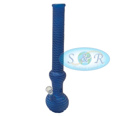 18 Inch Frosted Net Taping Glass Waterpipe Bong
