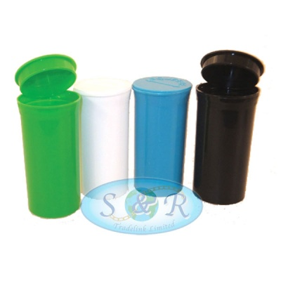 Smell Proof Airtight Plastic Stash Pots Various Colours