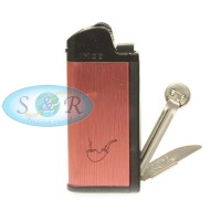 IMCO Chic 4 Red Flint Pipe Lighter