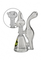 Black Leaf 15cm Glass Oil Recycler and Herb Pipe