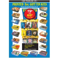 2oz Printed Gift Tin Kits 100s of Designs